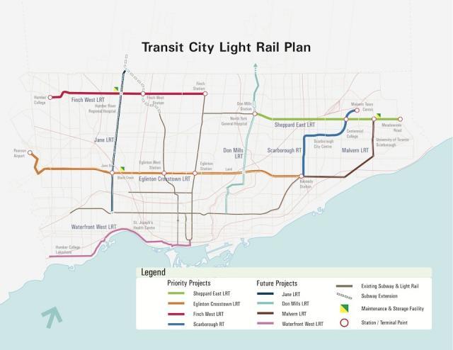 Transit City LRT Lines Plan