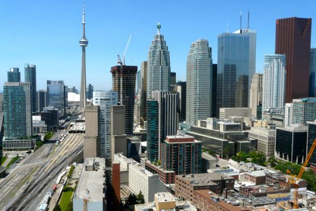 Downtown Toronto as seen from Context's Market Wharf condos, Toronto