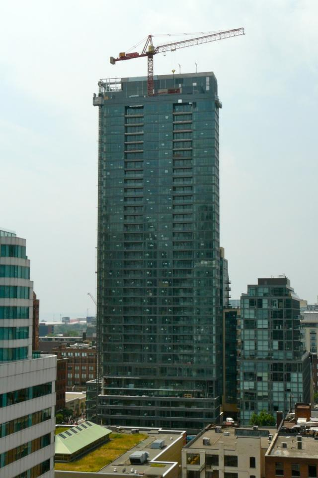 Great Gulf's Charlie condos, as seen from Daniels' Cinema Tower condos, Toronto