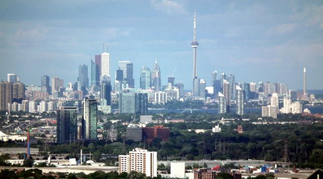 Downtown Toronto and Humber Bay Shores in Toronto