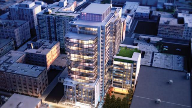 Ivory on Adelaide condos Toronto by Hariri Pontarini Architects for Plaza