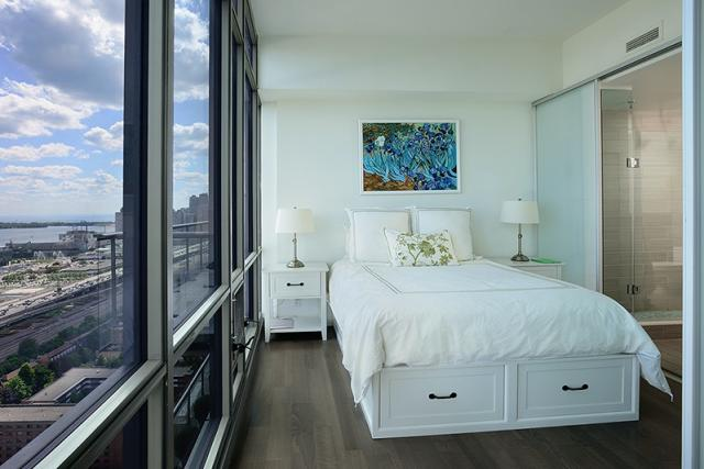 Master Bedroom in suite 3203 at 33 Mill, Toronto penthouse condo