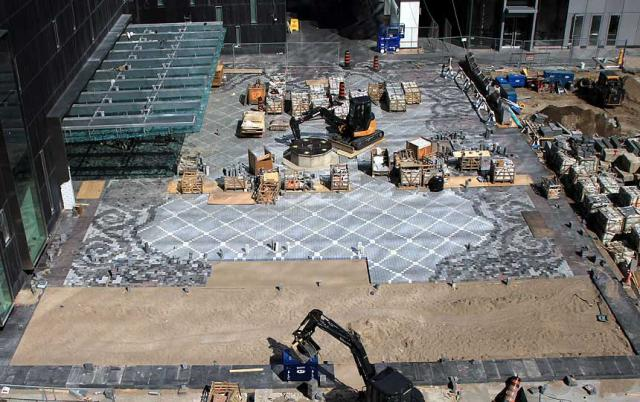 Courtyard under construction at the Four Seasons Hotel & Residences, Toronto
