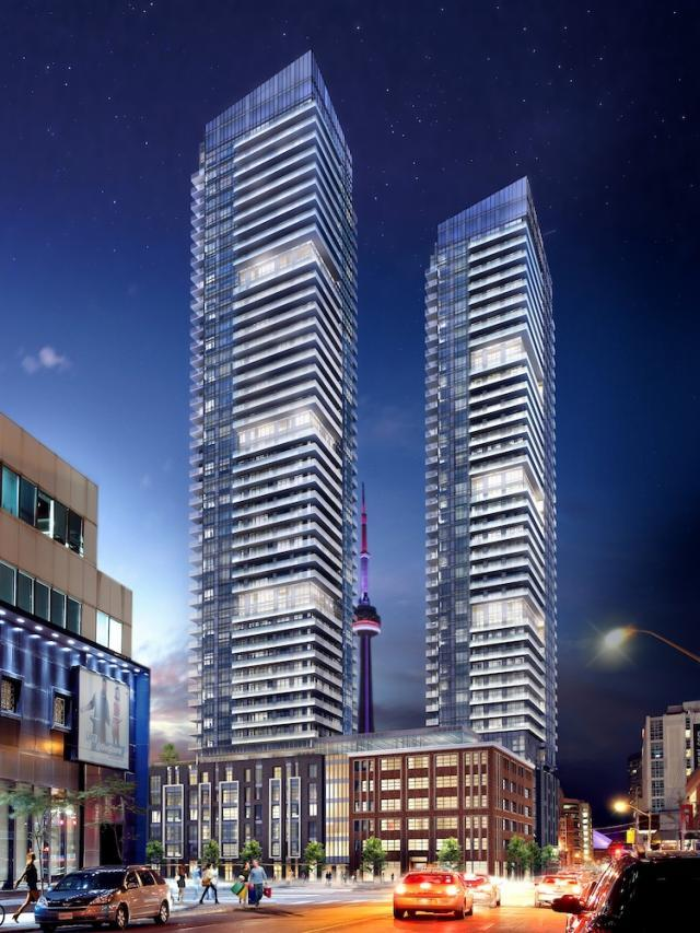 King Blue Condos, Toronto. Developed by Easton's Group & Remington