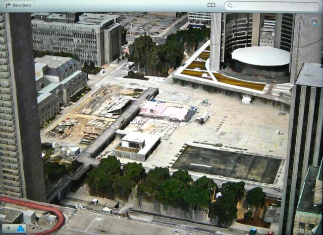 Nathan Phillips Square under construction, from Apple's Maps app in iOS6