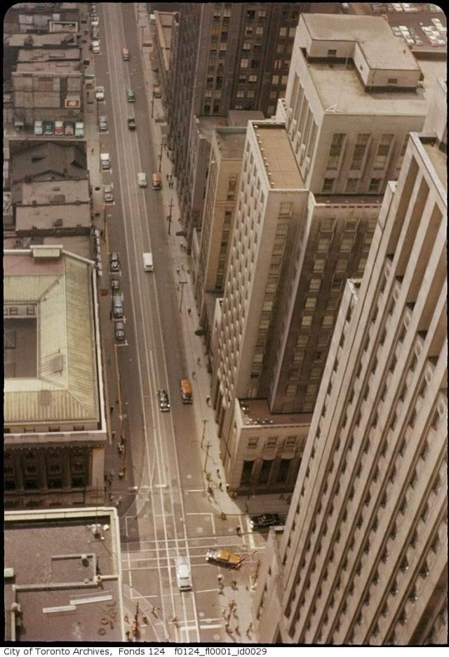 Intersection of King and Bay in the 1960's, Toronto.