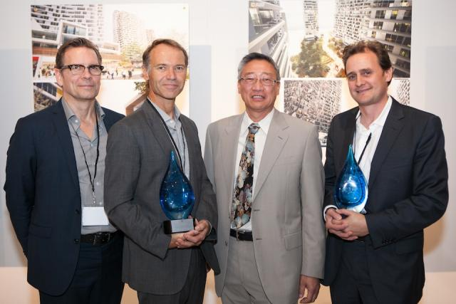 Harmony Village Lake Simcoe design competition winners with Jack Pong