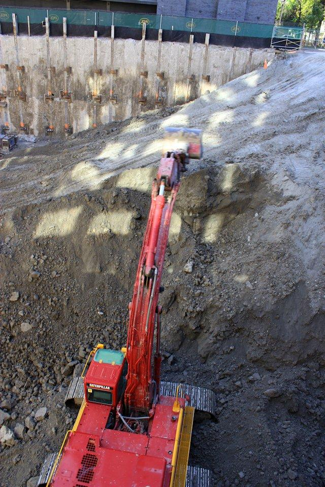 Excavation at Chaz Yorkville condos by 45 Charles Ltd, image by Jack Landau