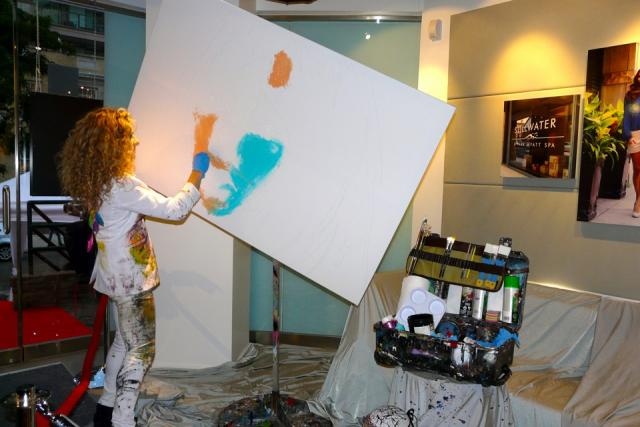 Jessica Gorlicky paints to raise money for charity, image by Craig White