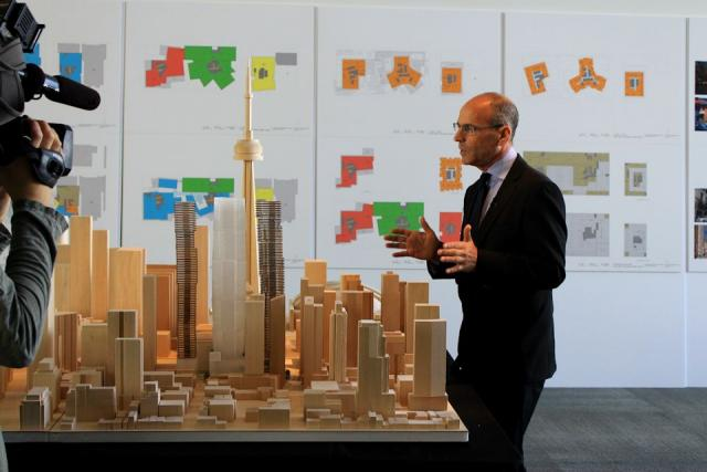 Evolution of the Mirvish+Gehry Toronto condo design through scale models