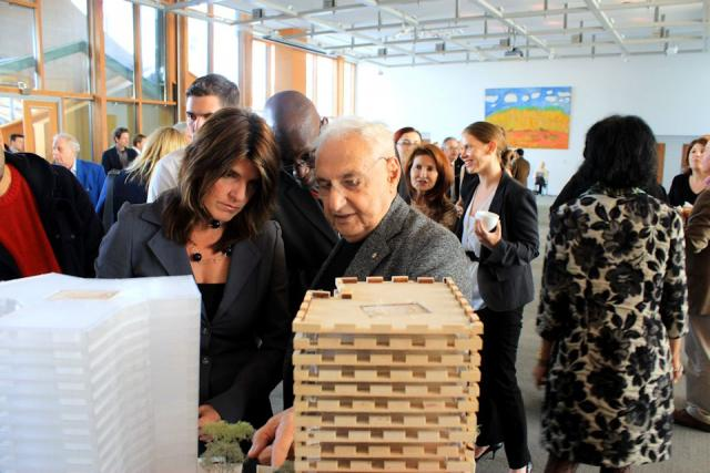 Frank Gehry discusses his Mirvish+Gehry design with Lisa Rochon of the Globe