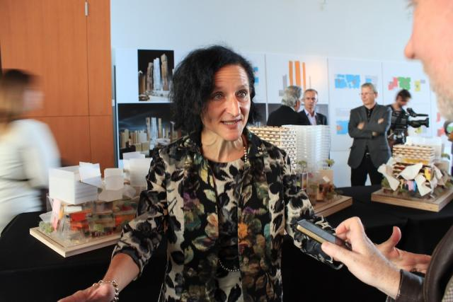 OCAD University's Sara Diamond talks with UrbanToronto at Mirvish+Gehry launch