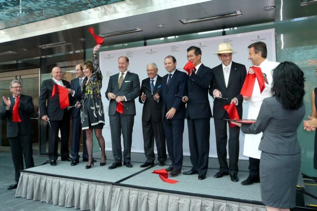 The ribbon is cut at the opening of Toronto's new Four Seasons, image by C White