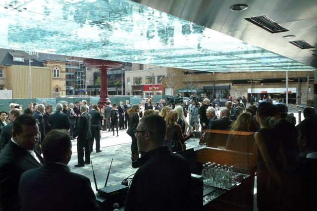 The crowd at the opening of Toronto's new Four Seasons, image by Craig White