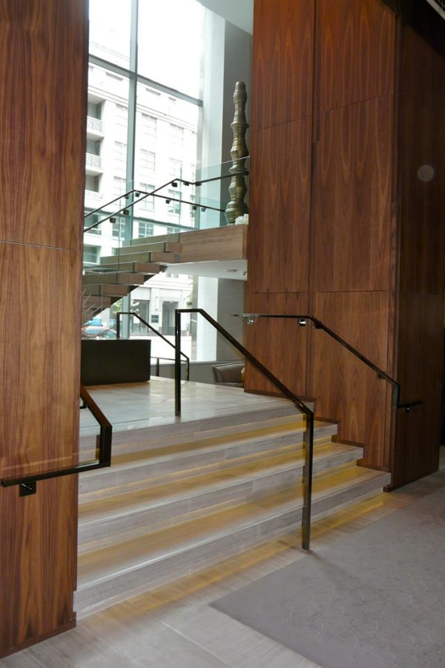 Stair to Café Boulud at Toronto's new Four Seasons, image by Craig White