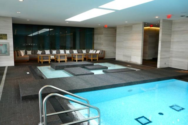 The spa pool at Toronto's new Four Seasons, image by Craig White