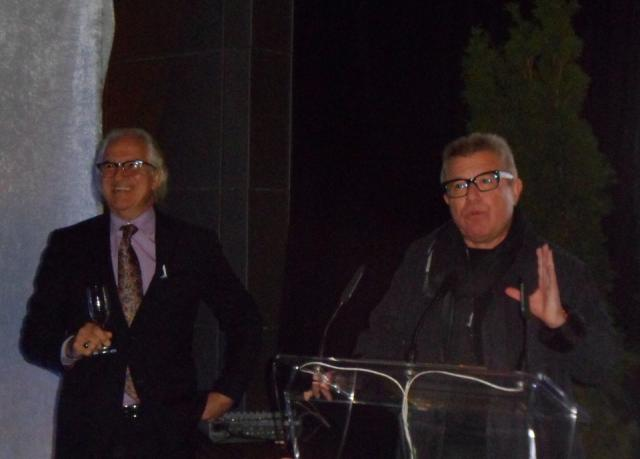 Castlepoint's Alfredo Romano with L-Tower architect Daniel Libeskind