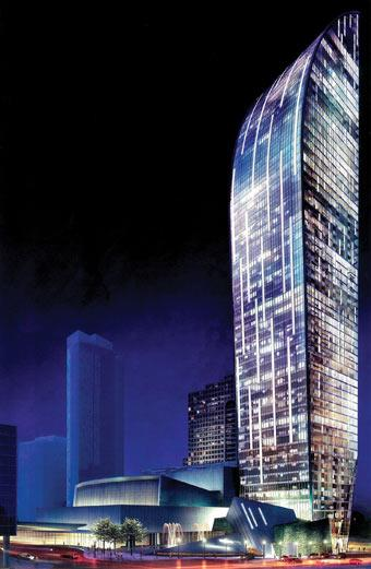 The L-Tower, image courtesy of Castlepoint Realty