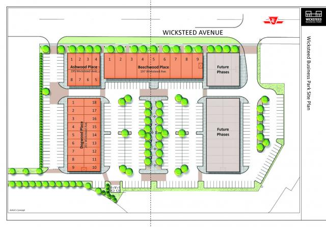 Wicksteed Business Park site plan, image courtesy of The Rockport Group