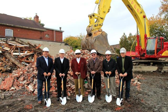Groundbreaking for Eleven Superior condos by Davies Smith Developments, Toronto