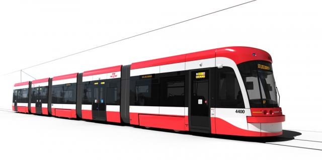 New Bombardier Flexity Outlook Streetcars, image courtesy of the TTC