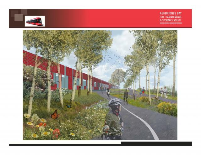 Brown + Storey Architects' winning scheme, image courtesy of the Toronto Transit