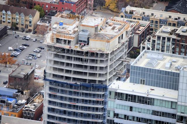 Aerial view of roof of Cinema Tower Daniels Corporation Toronto