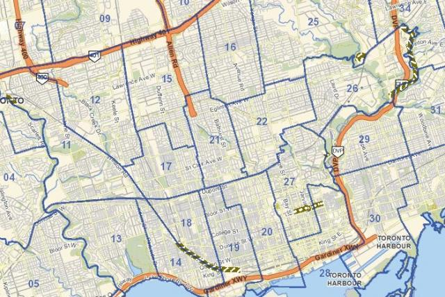 T.O. INview, Cycling network construction, City of Toronto, 2013