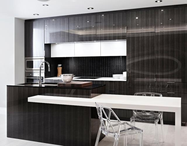 Kitchen in a suite at the Monarch Corporation's Epicurean condo, Toronto