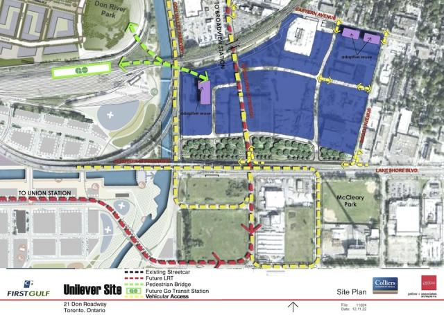 21 Don Roadway site plan with new road and transit linkages