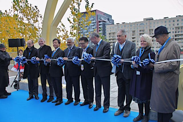 pening of Puente de Luz Bridge at CityPlace, Toronto, October 26, 2012
