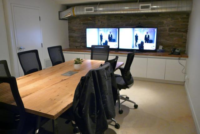 Boardroom space in the Dineen Building, Toronto