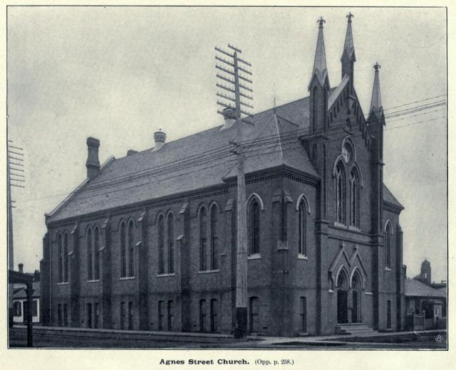 Agnes Street Church, Toronto, Bay & Dundas, 1899