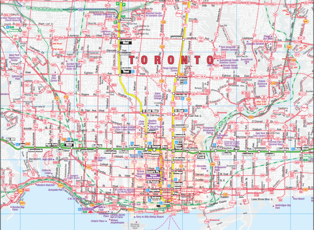 South Central Section of TTC, image courtesy of the Toronto Transit Commission