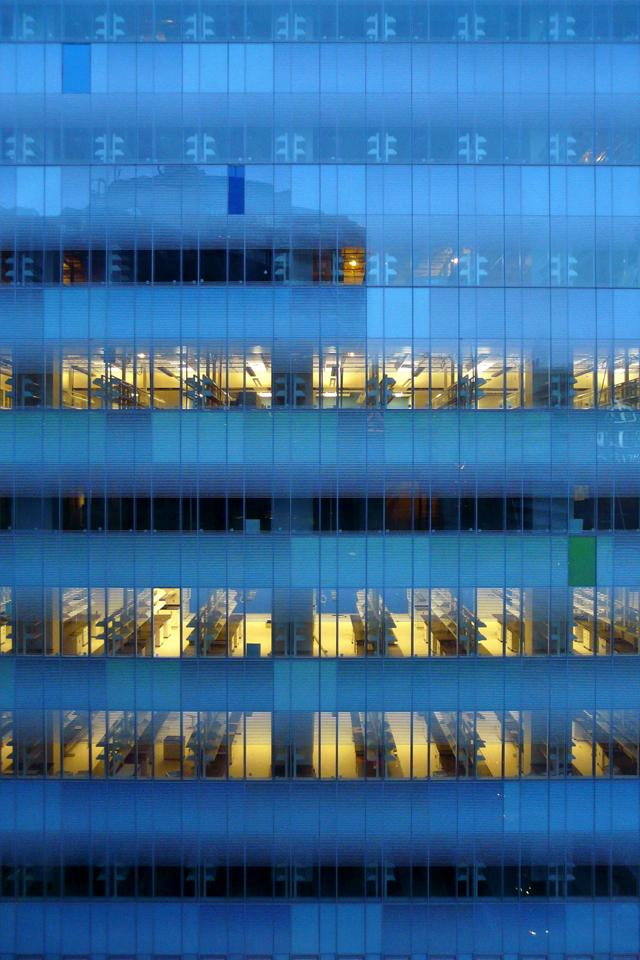 SickKids Research and Learning Tower, evening, Toronto