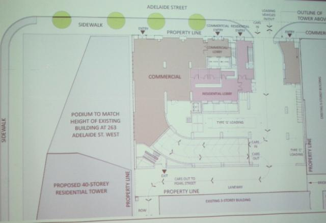 263 Adelaide West Toronto site plan