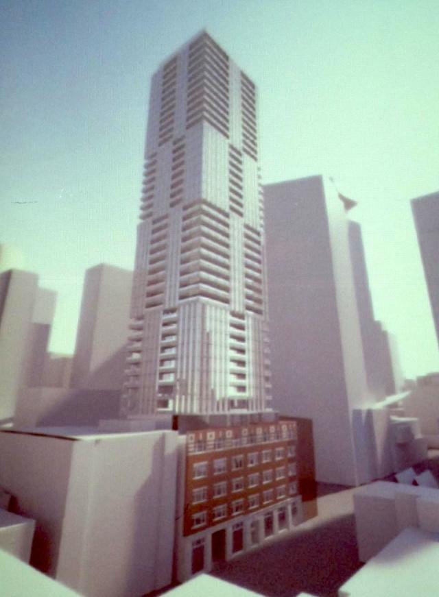 263 Adelaide West Toronto render viewed from the north east.