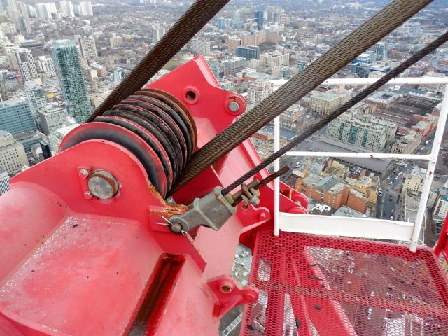 Crane Rope Replacement, L Tower