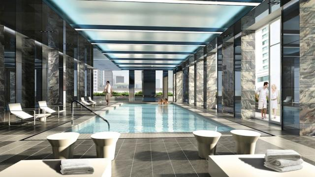 Pool at King Blue Condominiums, Toronto