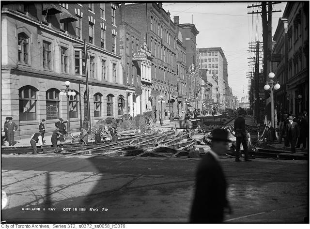 Bay and Adelaide Streets, Toronto, 1911