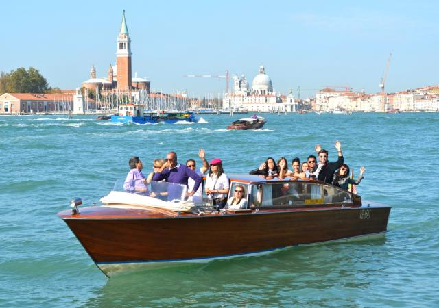 The Cecconi Simone team in the Venice Lagoon, Italy