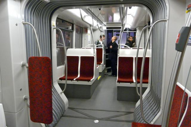 TTC new streetcar interior, image by Craig White