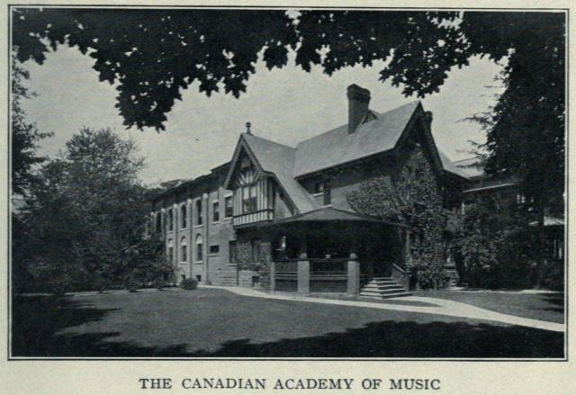Twelve Spadina Road, The Canadian Academy of Music. Toronto, 1914