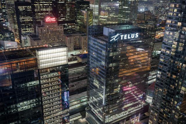 Buildings in Toronto's core from Ïce Condos, image by Tomms