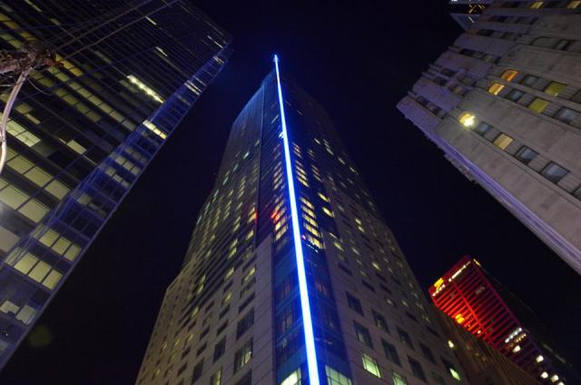The light sabre is tested at Trump Toronto in June, image by drum118