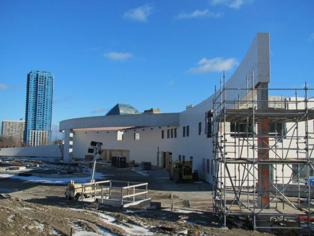 The Ismaili Centre rising (along with the Aga Khan Museum) at Eglinton and the D