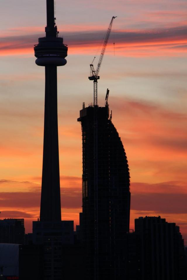L Tower and CN Tower by sunset, image by Razz