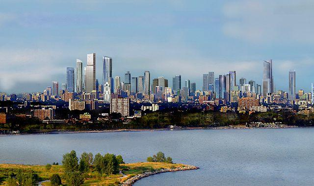 Rendering of Future Toronto Skyline Upside-Down Marketing and Design