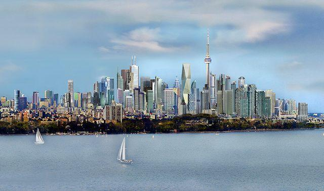 Rendering of future Toronto skyline