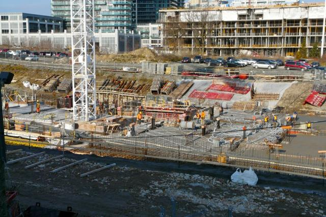 Work progresses on Beaverhall and Graywood's Ocean Club condo, Humber Bay Shores
